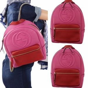 Authentic Gucci backpack Pink
